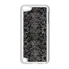 Damask2 Black Marble & Gray Stone Apple Ipod Touch 5 Case (white)