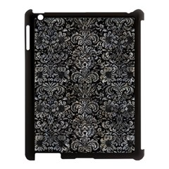 Damask2 Black Marble & Gray Stone Apple Ipad 3/4 Case (black)
