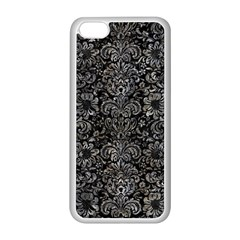 Damask2 Black Marble & Gray Stone Apple Iphone 5c Seamless Case (white)