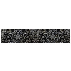 Damask2 Black Marble & Gray Stone Flano Scarf (small)