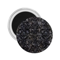 Damask2 Black Marble & Gray Stone (r) 2 25  Magnets