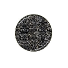 Damask2 Black Marble & Gray Stone (r) Hat Clip Ball Marker (10 Pack)