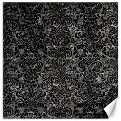 Damask2 Black Marble & Gray Stone (r) Canvas 20  X 20