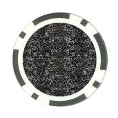 Damask2 Black Marble & Gray Stone (r) Poker Chip Card Guard