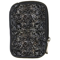 Damask2 Black Marble & Gray Stone (r) Compact Camera Cases