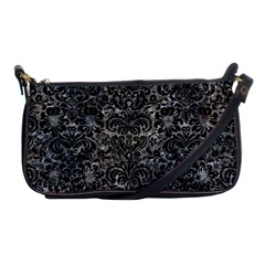 Damask2 Black Marble & Gray Stone (r) Shoulder Clutch Bags