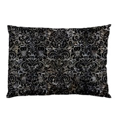 Damask2 Black Marble & Gray Stone (r) Pillow Case (two Sides)