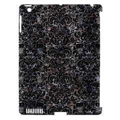 Damask2 Black Marble & Gray Stone (r) Apple Ipad 3/4 Hardshell Case (compatible With Smart Cover)