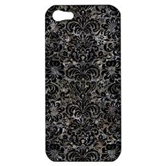 Damask2 Black Marble & Gray Stone (r) Apple Iphone 5 Hardshell Case
