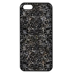 Damask2 Black Marble & Gray Stone (r) Apple Iphone 5 Seamless Case (black)