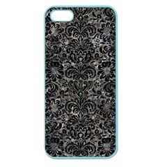 Damask2 Black Marble & Gray Stone (r) Apple Seamless Iphone 5 Case (color)