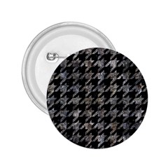 Houndstooth1 Black Marble & Gray Stone 2 25  Buttons