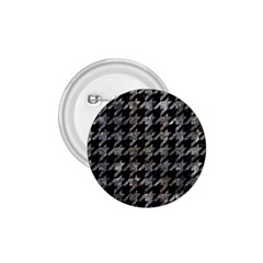 Houndstooth1 Black Marble & Gray Stone 1 75  Buttons