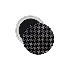 Houndstooth1 Black Marble & Gray Stone 1 75  Magnets