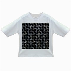 Houndstooth1 Black Marble & Gray Stone Infant/toddler T Shirts