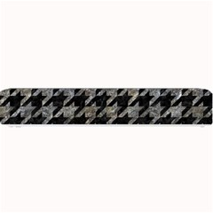 Houndstooth1 Black Marble & Gray Stone Small Bar Mats