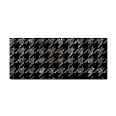 Houndstooth1 Black Marble & Gray Stone Cosmetic Storage Cases