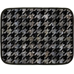 Houndstooth1 Black Marble & Gray Stone Double Sided Fleece Blanket (mini)