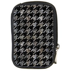 Houndstooth1 Black Marble & Gray Stone Compact Camera Cases