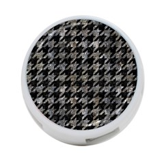 Houndstooth1 Black Marble & Gray Stone 4 Port Usb Hub (two Sides)
