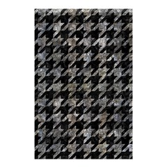 Houndstooth1 Black Marble & Gray Stone Shower Curtain 48  X 72  (small)