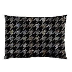 Houndstooth1 Black Marble & Gray Stone Pillow Case (two Sides)