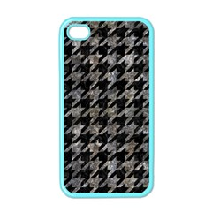 Houndstooth1 Black Marble & Gray Stone Apple Iphone 4 Case (color)