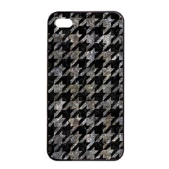 Houndstooth1 Black Marble & Gray Stone Apple Iphone 4/4s Seamless Case (black)