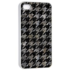 Houndstooth1 Black Marble & Gray Stone Apple Iphone 4/4s Seamless Case (white)