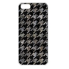 Houndstooth1 Black Marble & Gray Stone Apple Iphone 5 Seamless Case (white)