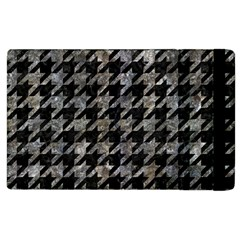 Houndstooth1 Black Marble & Gray Stone Apple Ipad 2 Flip Case