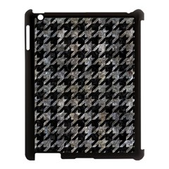 Houndstooth1 Black Marble & Gray Stone Apple Ipad 3/4 Case (black)