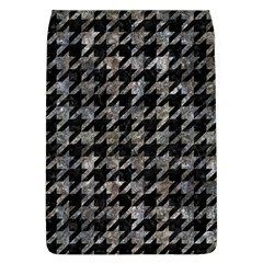 Houndstooth1 Black Marble & Gray Stone Flap Covers (l)