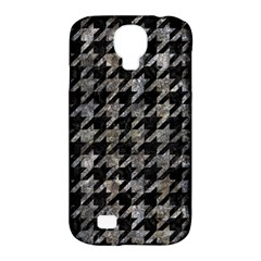 Houndstooth1 Black Marble & Gray Stone Samsung Galaxy S4 Classic Hardshell Case (pc+silicone)