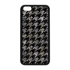 Houndstooth1 Black Marble & Gray Stone Apple Iphone 5c Seamless Case (black)