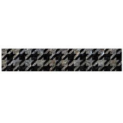 Houndstooth1 Black Marble & Gray Stone Flano Scarf (large)