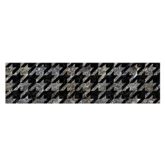 Houndstooth1 Black Marble & Gray Stone Satin Scarf (oblong)