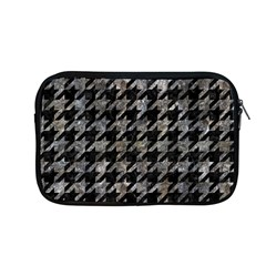 Houndstooth1 Black Marble & Gray Stone Apple Macbook Pro 13  Zipper Case