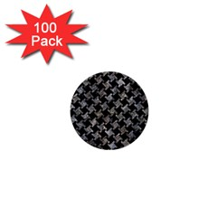 Houndstooth2 Black Marble & Gray Stone 1  Mini Buttons (100 Pack)