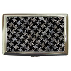 Houndstooth2 Black Marble & Gray Stone Cigarette Money Cases