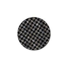 Houndstooth2 Black Marble & Gray Stone Golf Ball Marker