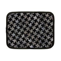 Houndstooth2 Black Marble & Gray Stone Netbook Case (small)