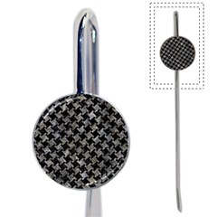 Houndstooth2 Black Marble & Gray Stone Book Mark