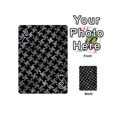 Houndstooth2 Black Marble & Gray Stone Playing Cards 54 (mini)