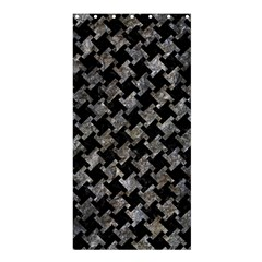 Houndstooth2 Black Marble & Gray Stone Shower Curtain 36  X 72  (stall)
