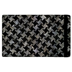 Houndstooth2 Black Marble & Gray Stone Apple Ipad 3/4 Flip Case