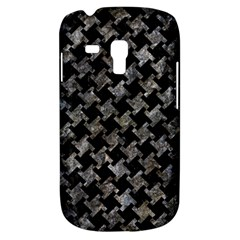 Houndstooth2 Black Marble & Gray Stone Galaxy S3 Mini