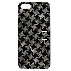 Houndstooth2 Black Marble & Gray Stone Apple Iphone 5 Hardshell Case With Stand
