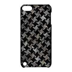 Houndstooth2 Black Marble & Gray Stone Apple Ipod Touch 5 Hardshell Case With Stand