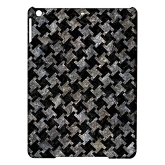 Houndstooth2 Black Marble & Gray Stone Ipad Air Hardshell Cases